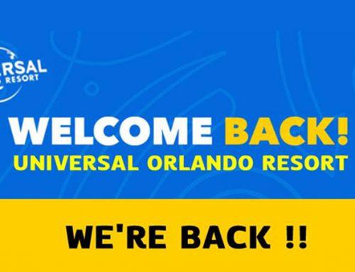 Welcome Back Universal Orlando Resort